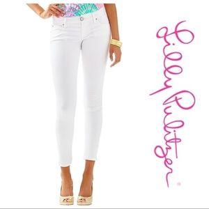 NWOT Lilly Pulitzer Worth Straight Crop White Jean